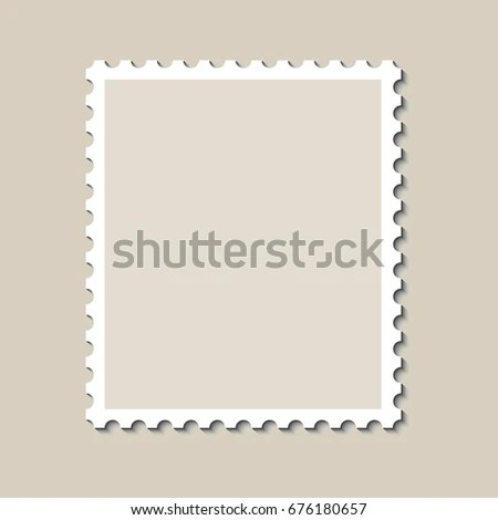 Blank Postage Stamp Template Shadow Vector Stock Vector (2018 - stamp template