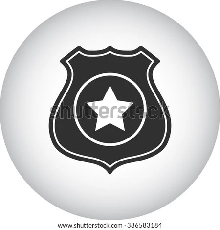 Police Office Badge Simple Icon On Stock Vector HD (Royalty Free