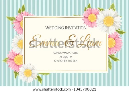 Wedding Marriage Event Invitation Card Template Stock Vector