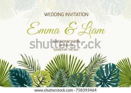 Wedding Marriage Event Invitation Card Template Stock Vector - invitation card event