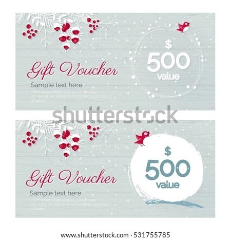 Christmas Gift Certificate Template Stock Images, Royalty-Free - christmas gift certificates templates