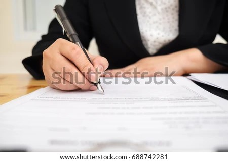 Close Business Man Reaching Out Sheet Stock Photo 664956685 - writing contract agreements