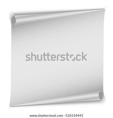 White Page Corner Curl Vector Template Stock Vector 578971990 - white paper template