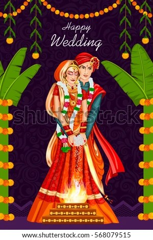 Cute Indian Married Couple Wallpaper Hindu Wedding Stock Images Royalty Free Images Amp Vectors