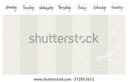Weekend Agenda Vector Template Basic Weekly Stock Vector 372853651