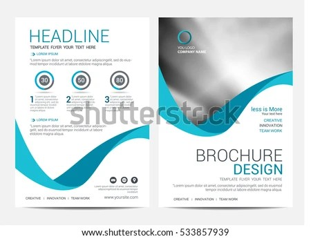 Vector illustration in rank M-rank Brochure Layout design template