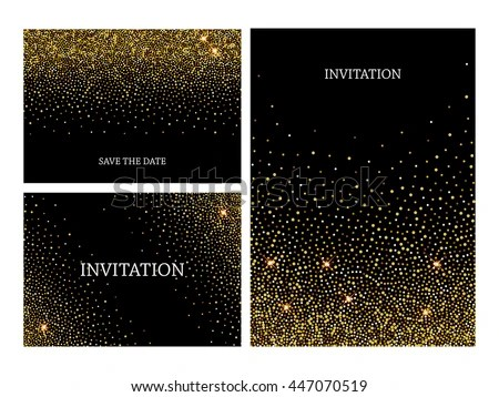 Confetti Invitation Template Stock Images Royalty Free
