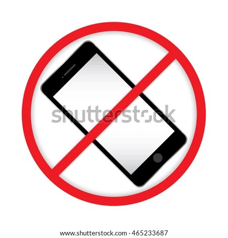No Cell Phone Sign Mobile Phone Stock Vector 465233687 - Shutterstock - Turn Off Cell Phone Sign