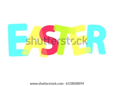 Easter Holiday Poster Word Design Template Stock Vector 610808894 - poster word template