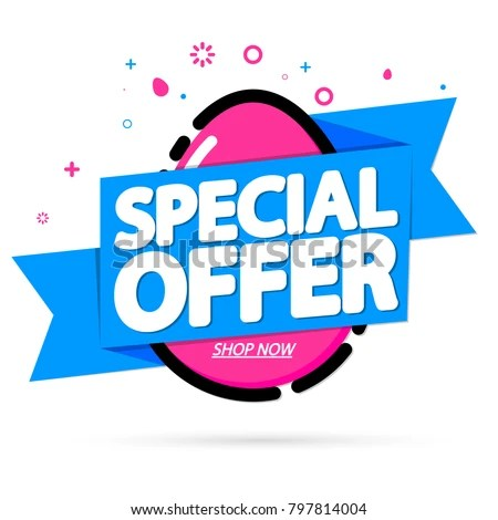 Special Offer Easter Sale Tag Banner Stock Vector HD (Royalty Free - sale tag template