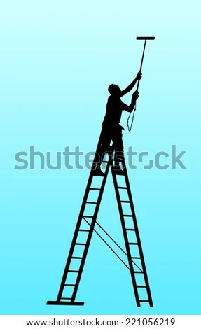 Man On Ladder Stock Images, Royalty-Free Images \ Vectors - the ladders