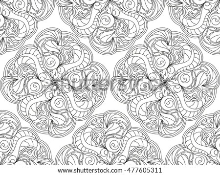 Antistress Coloring Pages Adults Older Children Stock Photo (Photo - Culring Pajis