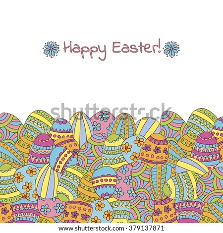 Easter Greeting Card Template Stock Vector 379137871 - Shutterstock - easter greeting card template