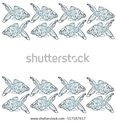 Fish Background Sketches Different Fish Leaflets Stock Vector (2018 - background sketches