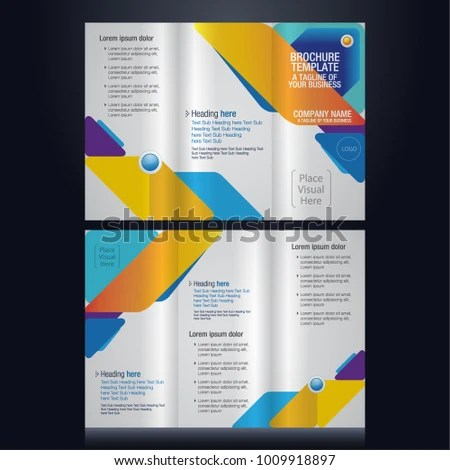 Trifold Brochure Pamphlet Flyer Layout Background Stock Vector - pamphlet layout template