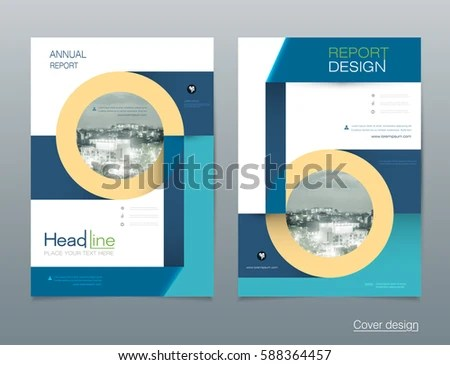 Vector Design Brochure Flyer Business Annual Stock Vector (2018 - pamphlet layout template