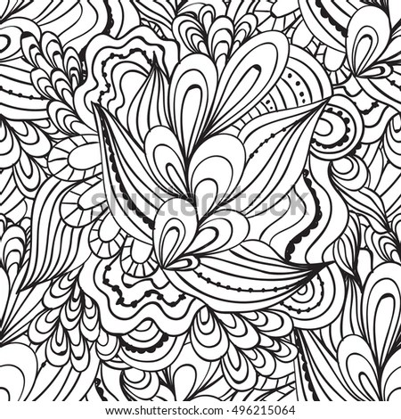 Coloring Pages Adults Coloring Book Decorative Hand Stock Photo - Culring Pajis