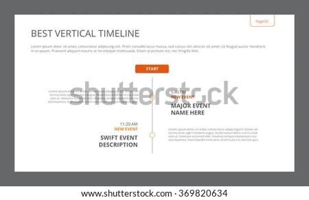 Simple Vertical Timeline Template Stock Vector 369820634 - simple timeline template