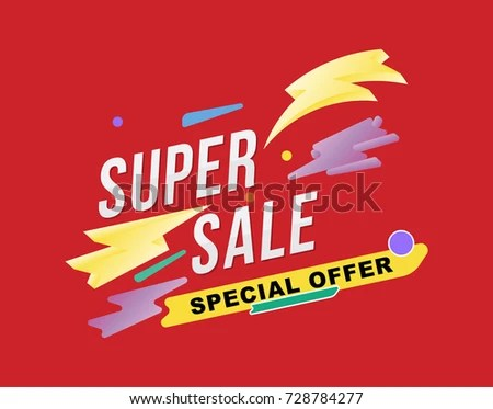 Template Design Poster Flyer Banner On Stock Photo (Photo, Vector - sale poster design