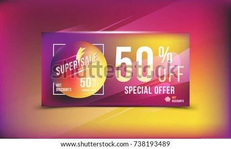 Super Sale 30 Off Discount Square Stock Vector 733285366 - discount flyer template