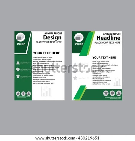 Annual Report Cover Design Report Template Stock Vector 430219651 - annual report template design