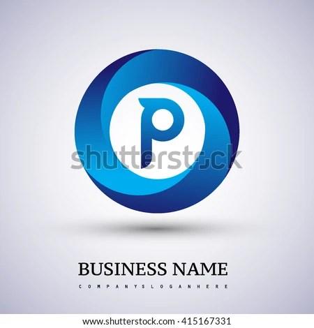 P Letter Logo Blue Circle Vector Stock Vector 415167331 - Shutterstock