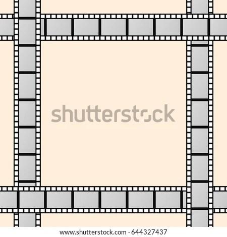 Frame Movie Film Reels Stock Vector 644327437 - Shutterstock