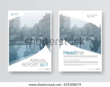 Annual Report Flyer Presentation Brochure Front Stock Vector