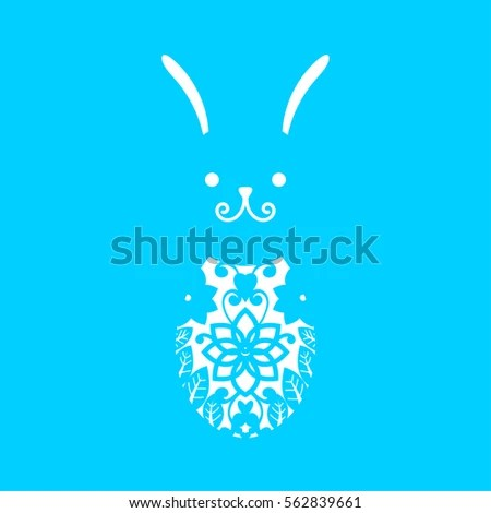Happy Easter Greeting Card Template Paper Stock Vector 566251528 - easter greeting card template