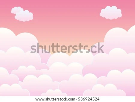 Cute Little Baby Wallpaper Hd Pink Sky Clouds Cartoon Background Bright Stock Vector