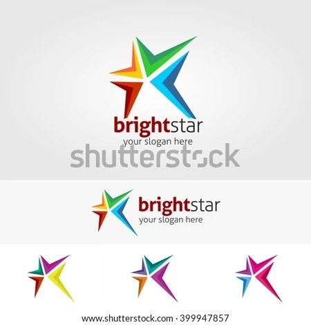 Abstract Star Logo Template Bright Star Stock Vector (Royalty Free