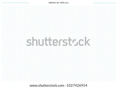 Printable Isometric Dot Paper Vector Pattern Stock Vector 1027426954