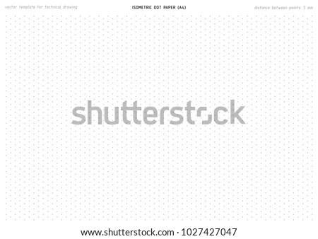 Isometric Dot Paper Vector Printable Pattern Stock Vector (2018