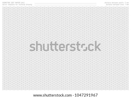 Isometric Dot Paper Vector Printable Pattern Stock Vector HD