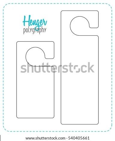 Door Hanger Stock Images, Royalty-Free Images \ Vectors Shutterstock - door hanger template