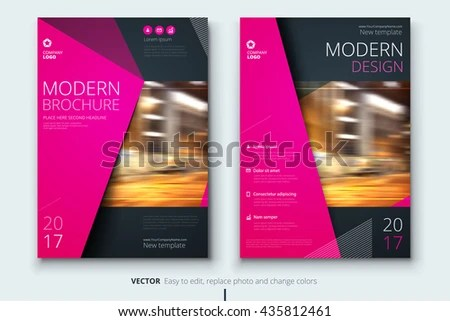 Brochure Fashion Design Corporate Business Template Stock Vector