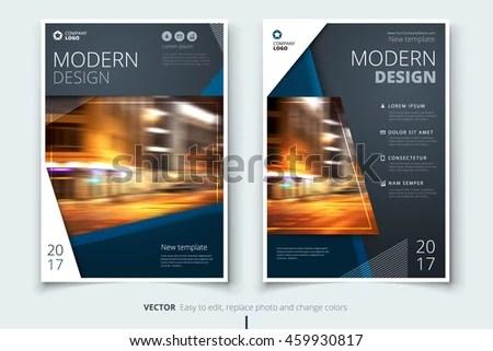 Dark Blue Modern Brochure Design Corporate Stock Vector 459930817