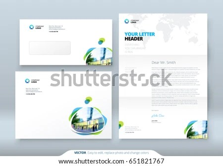 Envelope DL C 5 Letterhead Corporate Business Stock Vector 651821767