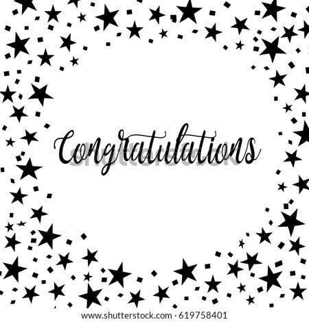 Congratulations Card Greeting Cards Template Stock Vector 619758401