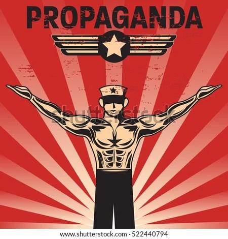 Propaganda Poster Template Stock Vector HD (Royalty Free) 522440794 - propaganda poster template