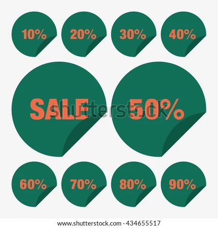 Set Template Green Sale Tag Vector Stock Vector 434655517 - sale tag template