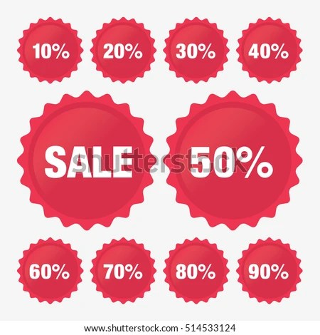 Set Template Red Sale Tag Vector Stock Vector 514533124 - Shutterstock - sale tag template