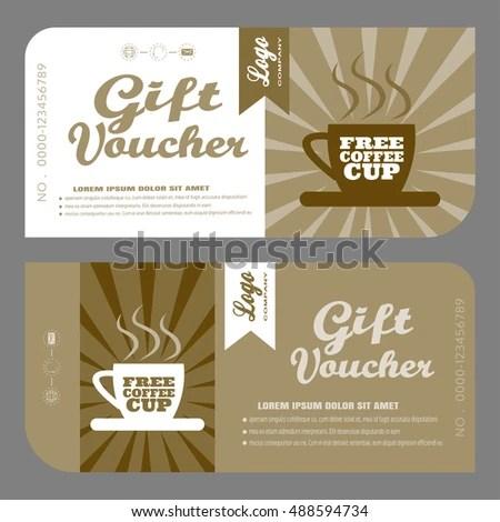 Blank Vector Gift Voucher Increase Sales Stock Vector (2018 - blank voucher