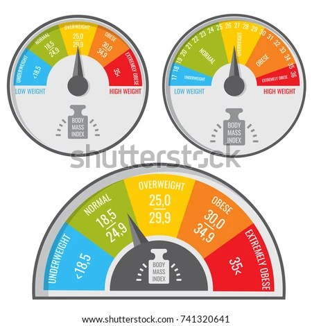 Index Body Mass Bmi Medical Fitness Stock Vector 741320641 - weight bmi
