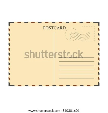 Vintage Postcard Template Vector Illustration Stock Vector (2018