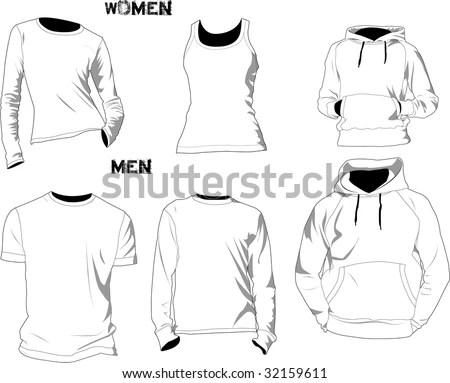 Tshirt Template Stock Photo (Photo, Vector, Illustration) 32159611 - t shirt template