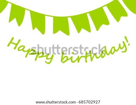 Happy Birthday Card Congratulations On Birthday Stock Vector - birthday letterhead