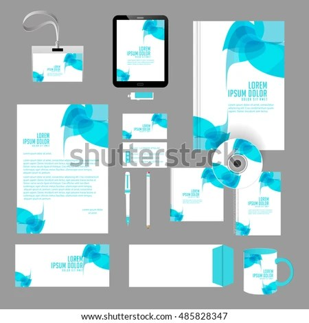 Creative Vector Templates Office Stationery Nice Stock Vector - Nice Templates