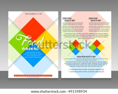 Nice Beautiful Vector Templates Business Flyers Stock Vector (2018 - Nice Templates