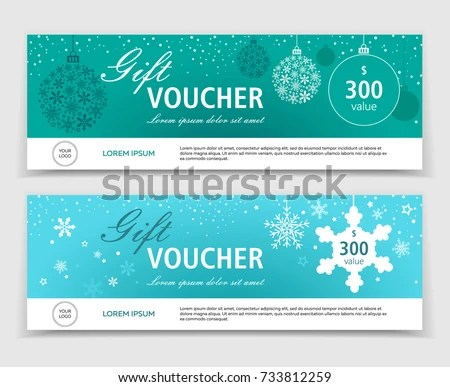 Christmas New Year Gift Voucher Discount Stock Vector 531084061 - christmas gift vouchers templates